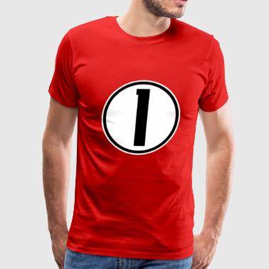 Sports Numbers 1 - Men's Premium T-Shirt