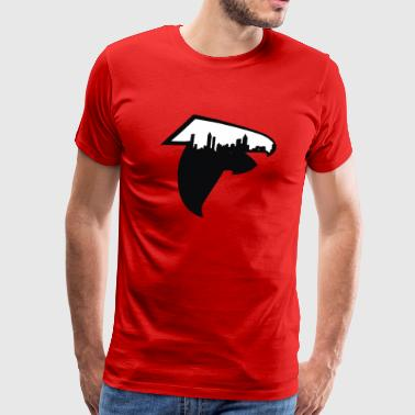 Atlanta Skyline Falcons Logo - Men's Premium T-Shirt