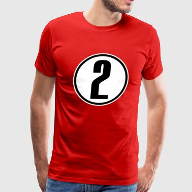 Number 2 Two 2 - Men's Premium T-Shirt