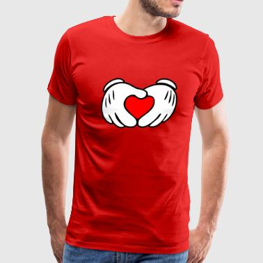 Mickey Mouse Heart Mickey heart hands - Men's Premium T-Shirt