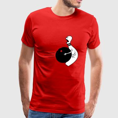 Funny Nut bowling ball in the nuts - Men's Premium T-Shirt