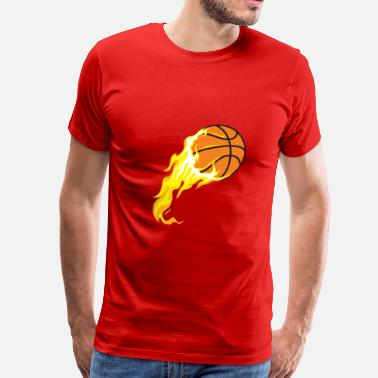 Fired Cartoon cartoon ball for basketball on fire - Men's Premium T-Shirt