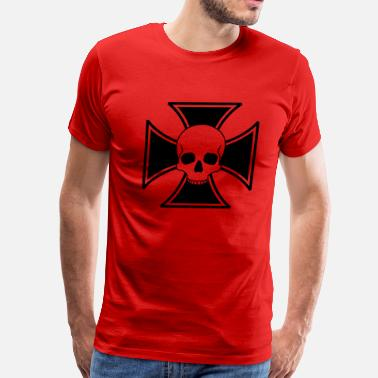 Iron Soldier iron cross skull - Men's Premium T-Shirt
