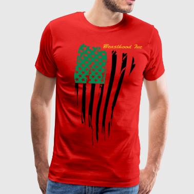 Red And Green African American - Men's Premium T-Shirt