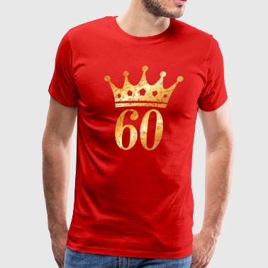 60th Birthday & Anniversary Crown (Vintage Gold) - Men's Premium T-Shirt