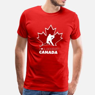 Ball Hockey ball hockey team Canada logo - Men s Premium T-Shirt f4c06bb8d