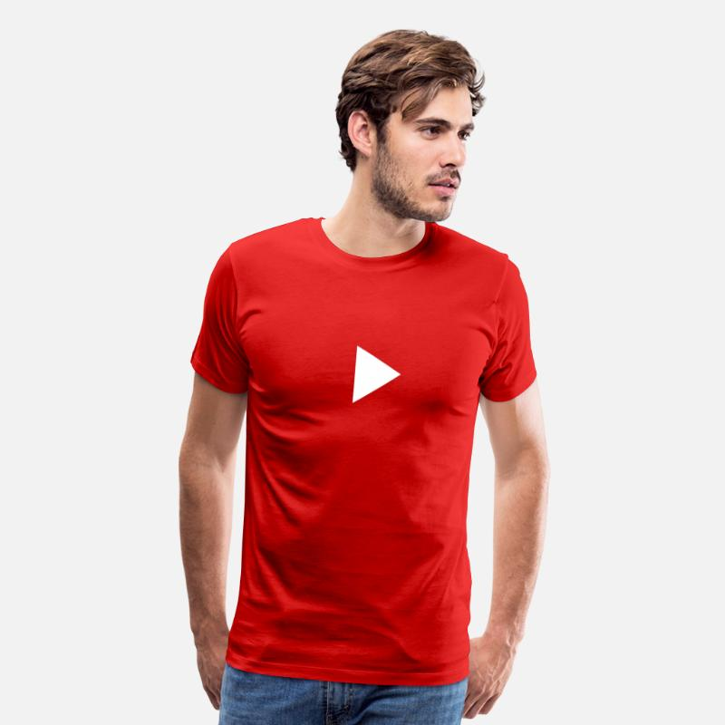Play T-Shirts - Youtube Play button - Men's Premium T-Shirt red