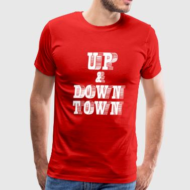 up and down town - Men's Premium T-Shirt