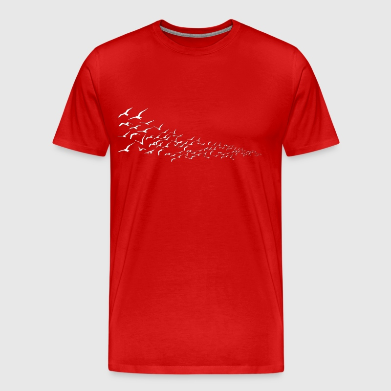Birds in Flight - Men's Premium T-Shirt