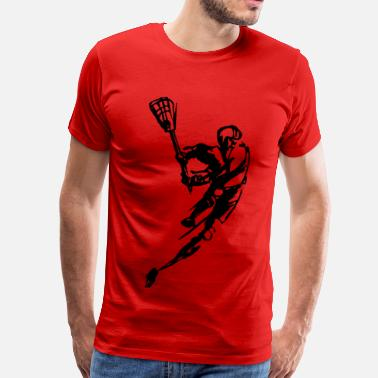 Youth Lacrosse Player - Men's Premium T-Shirt