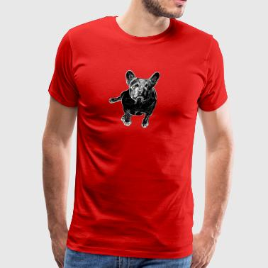 Dog Love ➢ Cute Black & White Mastiff ➢ Cool Dog - Men's Premium T-Shirt