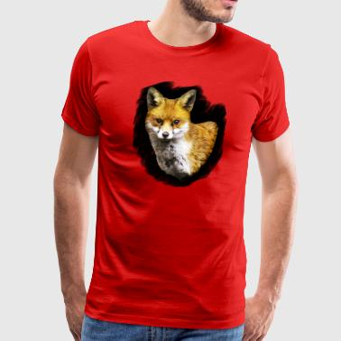Fox Portrait. - Men's Premium T-Shirt