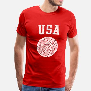 Vintage Basketball USA Basketball Vintage - Men's Premium T-Shirt