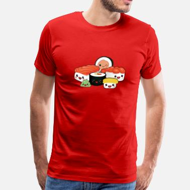 Cool happy sushi family - Men's Premium T-Shirt