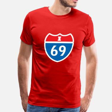 Interstate I 69 - Men's Premium T-Shirt