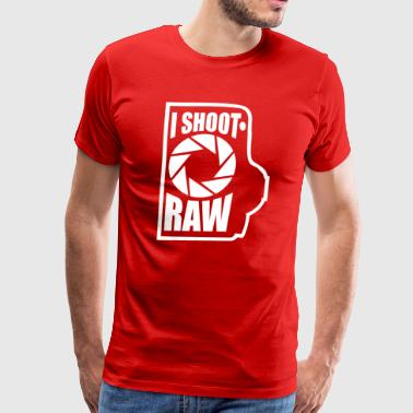I shoot RAW - Men's Premium T-Shirt