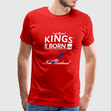 New Zealand Born Kings Dad Husband Birthday Gift - Men's Premium T-Shirt