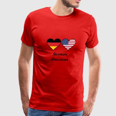 German American German American Flag Hearts - Men's Premium T-Shirt