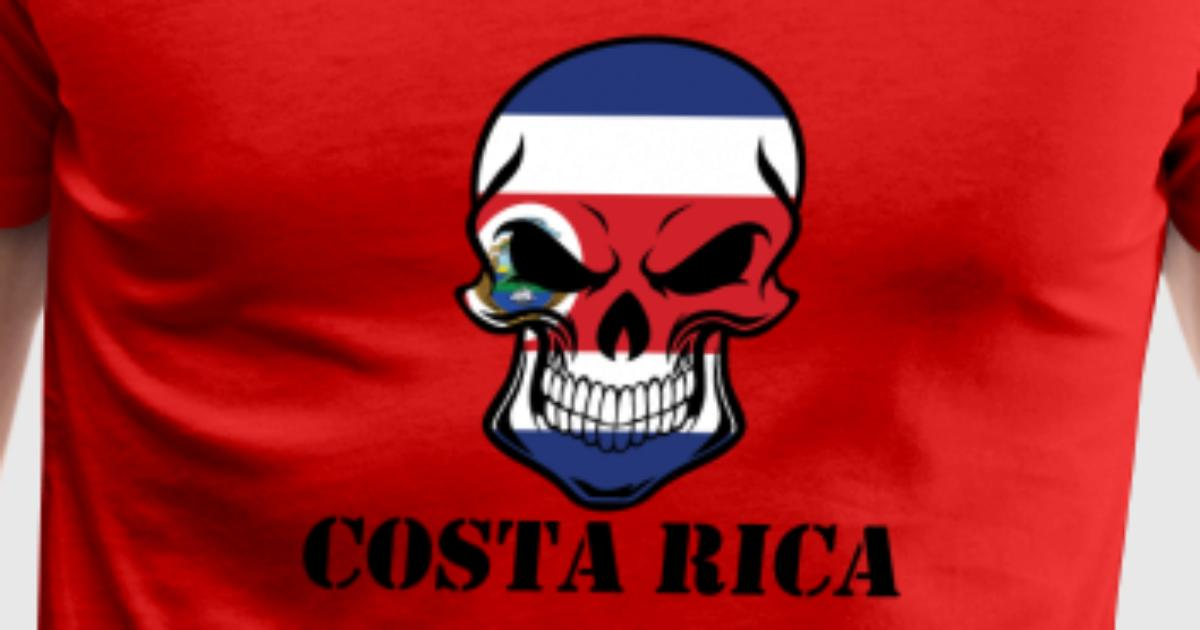 costa rican flag skull costa rica by awesome shirts spreadshirt