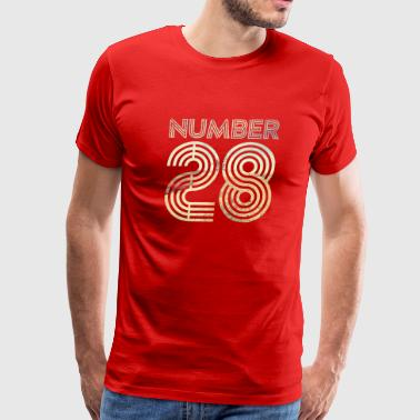 Number 28 - Men's Premium T-Shirt