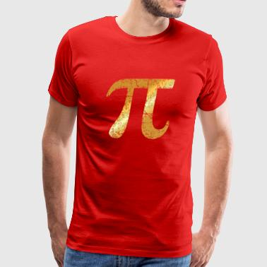 Letter Number Pi (Ancient Gold) - Men's Premium T-Shirt