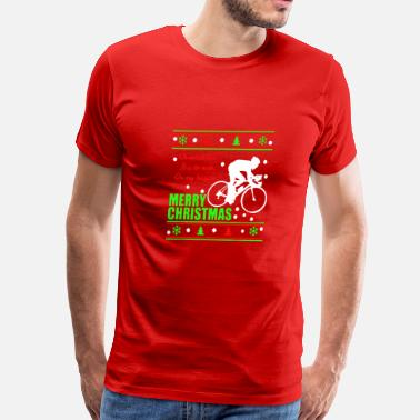 Bicycle Christmas Bicycle Christmas Shirt - Men's Premium T-Shirt