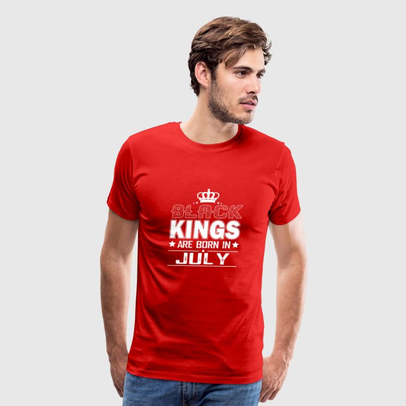 Black Kings Are Born In July Shirt - Men's Premium T-Shirt