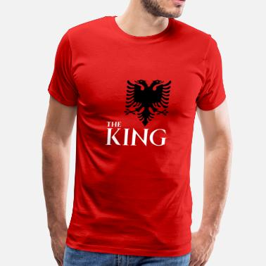 Albanian Eagle Kosovo the king of albania kosovo albanian eagle T-shirt - Men's Premium T-Shirt