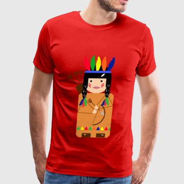 Indian Sioux indian - Men's Premium T-Shirt