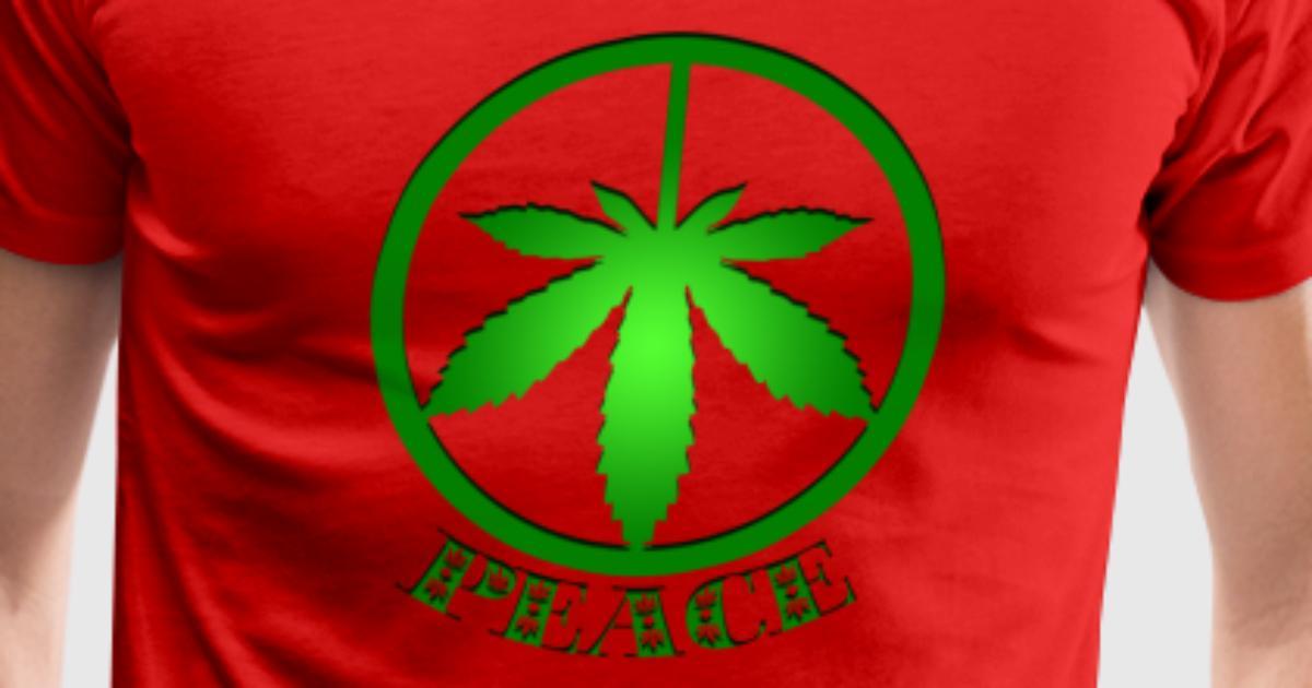 Peace Symbol Cool Marijuana Peace And Love By Spreadshirt