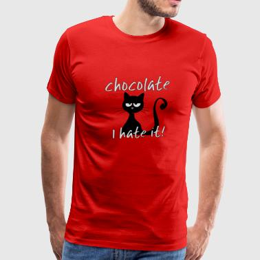 grumpy chocolate cat loves sweets so dearly - Men's Premium T-Shirt