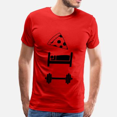 Sleeping Symbol Eat, Sleep Train Symbols - Men's Premium T-Shirt