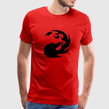 Mtg Red MTG Red Mana - Men's Premium T-Shirt
