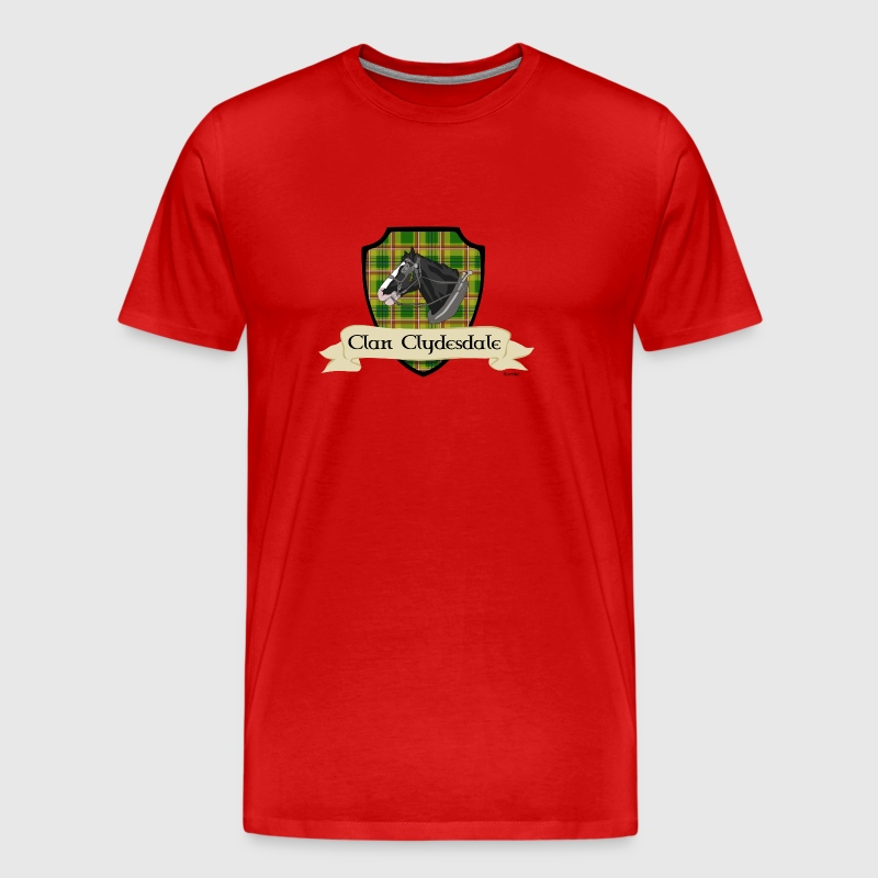 clan clydesdale shield - Men's Premium T-Shirt