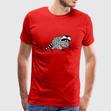 raccoon coon racoon bear animal forest cute - Men's Premium T-Shirt