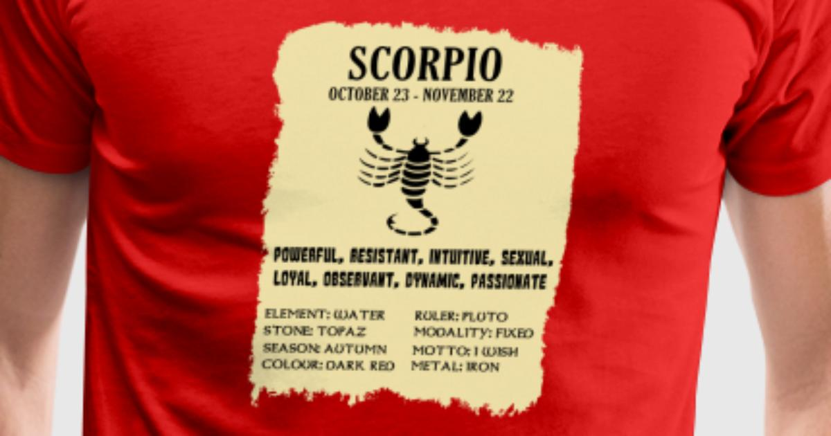 Best Birthday Present For Scorpio Man Gift Zodiac Christmas T Shirt