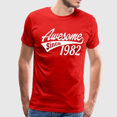 Awesome Since 1982 - Men's Premium T-Shirt