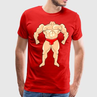 Tiny Body Builder - Men's Premium T-Shirt