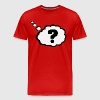 Question mark in Thought Bubble  - Men's Premium T-Shirt