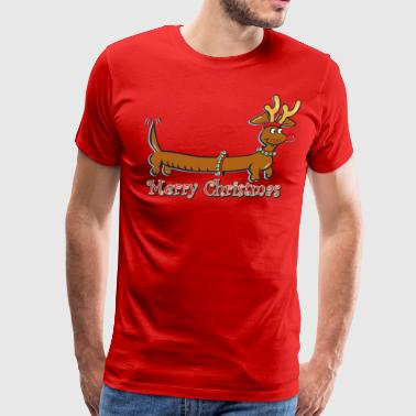 Doxie-Merry-Christmas - Men's Premium T-Shirt