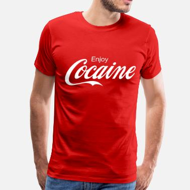 Cocaine Enjoy Cocaine - Men's Premium T-Shirt