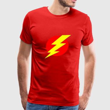 Red Lightning Bolt The Flash - Men's Premium T-Shirt