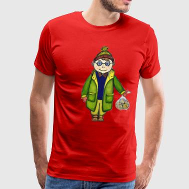 Boy with tangerines - Men's Premium T-Shirt