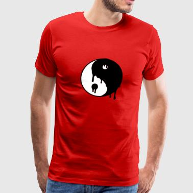 Drug Trippy Trippy Yin Yang - Men's Premium T-Shirt