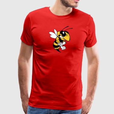 bee angry fight - Men's Premium T-Shirt