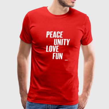 peace unity love fun ( zulu nation ) by wam - Men's Premium T-Shirt