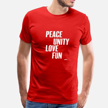 Zulu Nation peace unity love fun( zulu nation ) by wam - Men's Premium T-Shirt