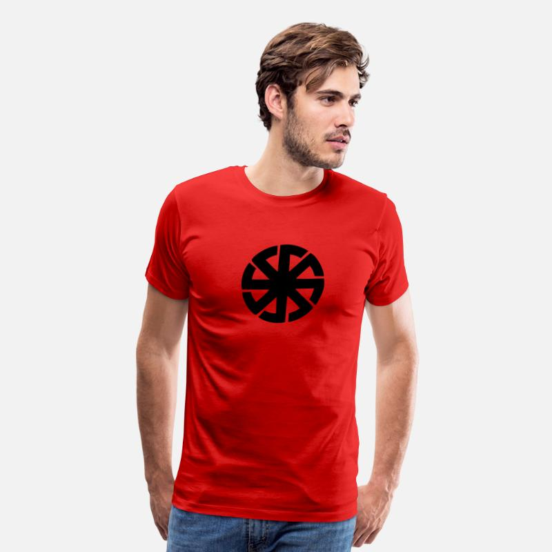 Metal T-Shirts - pagan sun - Men's Premium T-Shirt red