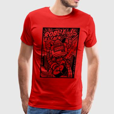 Robot Attack - Men's Premium T-Shirt