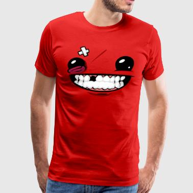 Super Meat Boy face Meat Boy - Men's Premium T-Shirt